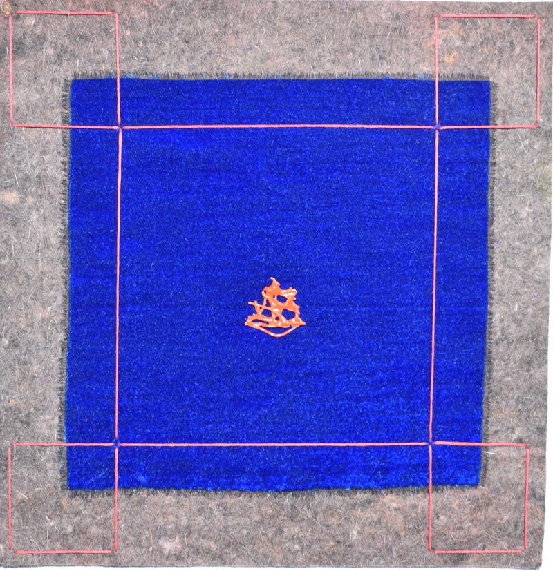 Forme di meditazione_2019_feltro celluto ceramica fili_cm.35x35