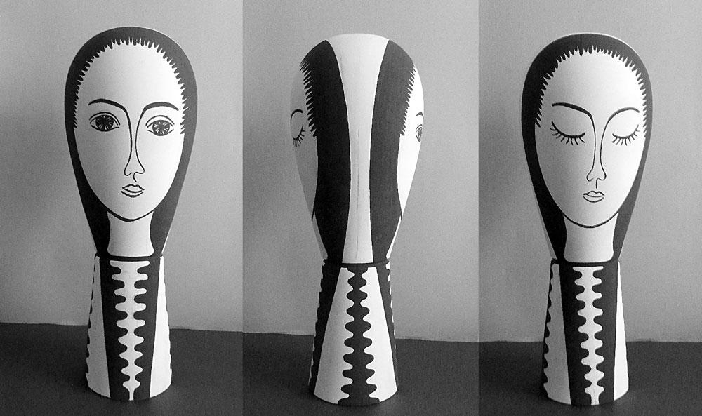 Vasi IMMAGINI DIO Mendini_2014_ceramica decorata__cm.70x25